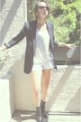 Black-urban-outfitters-blazer-white-h-m-shorts-black-h-m-heels