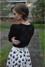 Black-lace-c-a-sweater-h-m-skirt-diy-bracelet