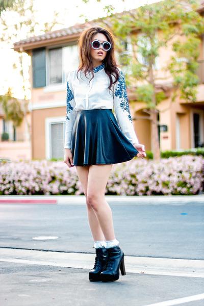 lita boots - frill American Apparel socks - pearl zeroUV sunglasses