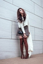 shearling romwe sweater