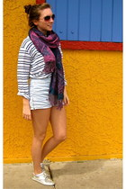 Urban Outfitters shoes - BDG shirt - clothing swap scarf - side zipper American