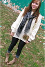 Black-american-apparel-leggings-eggshell-thrifted-sweater-camel-thrifted-boo