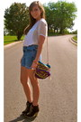 Dark-brown-charlotte-russe-boots-off-white-forever-21-shirt-blue-calvin-klei