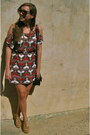 Duo-dress-urban-outfitters-sunglasses-blowfish-heels-h-m-earrings-thrift