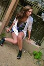 Black-steve-madden-shoes-beige-urban-outfitters-cardigan
