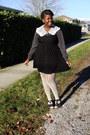 Black-forever-21-dress-black-thrifted-blouse-cream-forever-21-stockings-bl