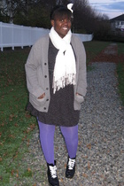 dress - scarf - sweater - tights - shoes -