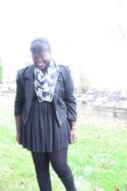 jacket - la vie en rose dress - shoes - H&M scarf