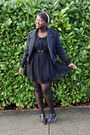 Black-thrifted-dress-black-thrifted-jacket-black-old-navy-wedges