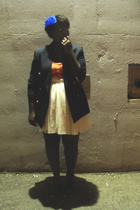 lo accessories - blazer - American Eagle top - belt - skirt - Jeffery Campbell s