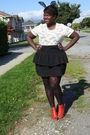 Black-h-m-accessories-white-t-shirt-black-nenee-skirt-orange-h-m-shoes