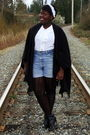 Black-la-chateau-coat-white-blouse-blue-shorts-black-hue-stockings-black