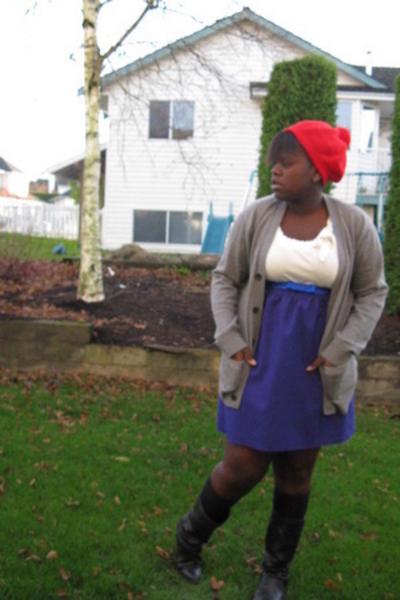 H&M hat - ae shirt - H&M belt - skirt - shoes