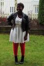 Red-joe-stockings-black-jacket-white-dress-black-fioni-boots-white-belt