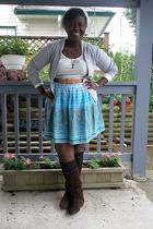 sweater - belt - joe shoes - Wet Seal skirt