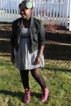 Gap accessories - Jacob dress - jacket - sears stockings - boots