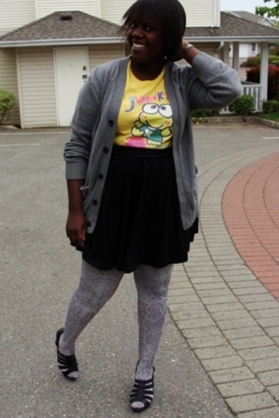 t-shirt - Gap sweater - H&M stockings - Old Navy skirt - Jeffery Campbell shoes