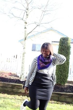 scarf - joe fresh style sweater - t-shirt - joe fresh style skirt - joe fresh st
