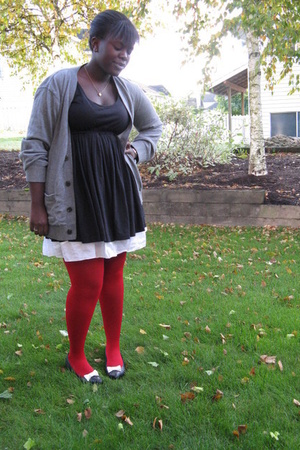 dress - Gap sweater - accessories - shoes - H&M tights - thrifted accessories