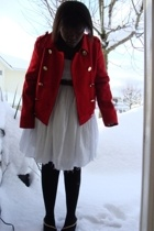 joe fresh style jacket - sweater - dress - joe fresh style tights - Forever21 sh