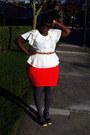 Camel-banana-republic-coat-cream-blouse-orange-forever-21-skirt