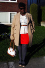Camel-banana-republic-coat-orange-forever-21-skirt-cream-blouse