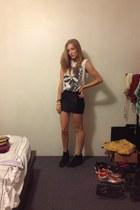 skull thrift shirt - burnt velvet BlackMilk skirt
