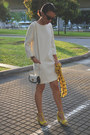 White-shift-dress-massimo-dutti-dress-black-black-and-white-mcm-bag