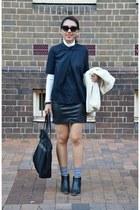 black ankle boots COS boots - black Victorias Secret bag