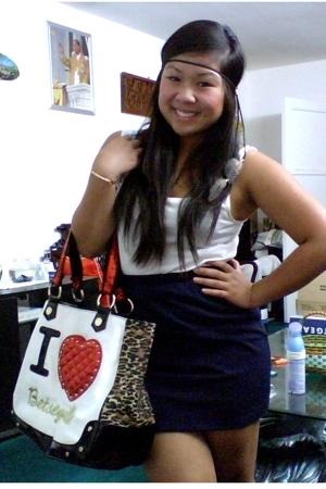H&M top - DIY skirt - Betsey Johnson purse - DIY accessories