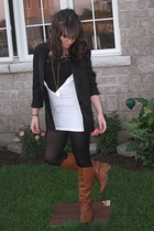 Miss Sixty boots - simply vera wang tights - Bebe top - golddigga t-shirt - thri