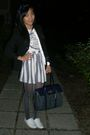 Black-banana-republic-blazer-blue-american-apparel-skirt-white-pink-t-shirt-