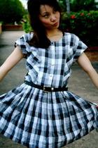 b/w plaid dress