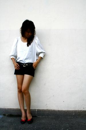 petite polka dot blouse