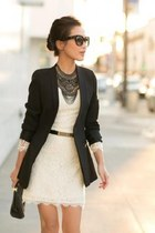 dress - blazer - belt