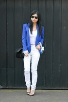 Pepe Jeans blazer - Cheap Monday jeans - rayban sunglasses - new look top