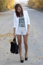 jacket - Bershka shorts - heels