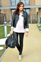 Zara jacket - SH sweater - SH leggings