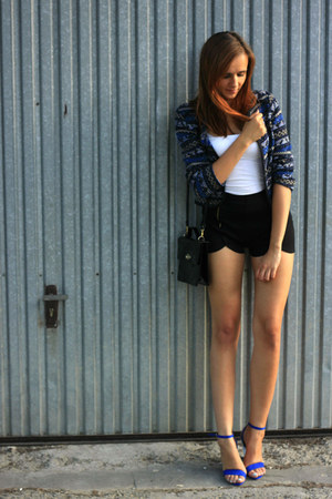 SH jacket - Bershka shorts - Stradivarius heels