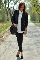 shirt - jacket - heels
