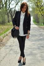 shirt - jacket - heels