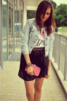 shirt - Bershka shirt - jacket - bag - belt
