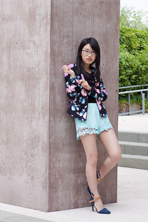 NY Collection jacket - Zara shorts - INC International Concept top