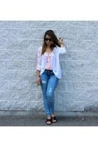 white boho Forever 21 blouse