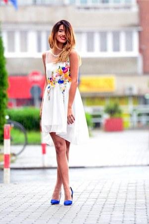 dress - blue Stiletto heels