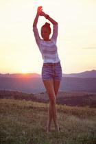Topshop blouse - H&M shoes - BROADWAY shorts