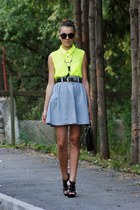 Orsay shirt - versace bag - Zara necklace - escada belt - H&M glasses