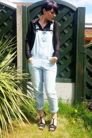 dungarees Primark jeans - Peacocks shirt - next wedges