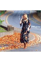 suede Zara boots - velvet Zara scarf - Mohito bag