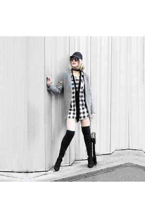 DealSale jacket - Zara boots - checkered Primark shirt